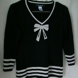 Cute Jones New York Petite Knit V-Neck Sweater